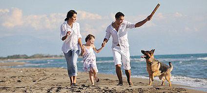 Urlaub mit Hund am Meer in der Toskana.
