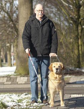 Ein Blindenhund erleichtert Sehbehinderten das Leben