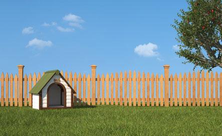 Ein Hundehütte ist neben einem geschützten Schlafplatz auch ein wichtiger Rückzugsort für den Hund.