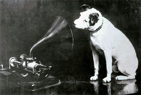 Hund Nipper und das Grammophon